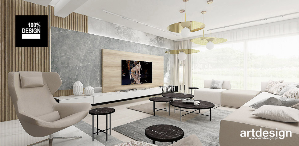 modny salon wnętrze