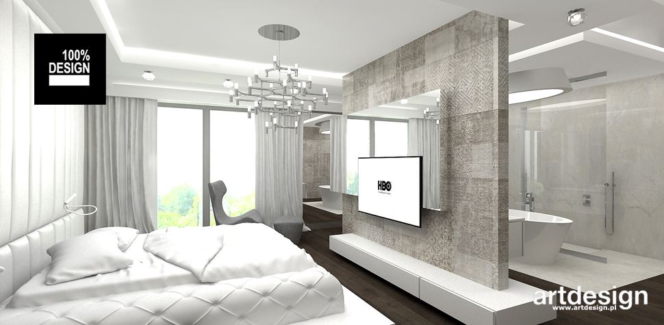 minimalistyczna aranżacja sypialni