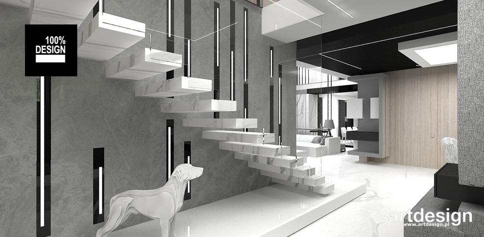 nowoczesna aranżacja hol schody