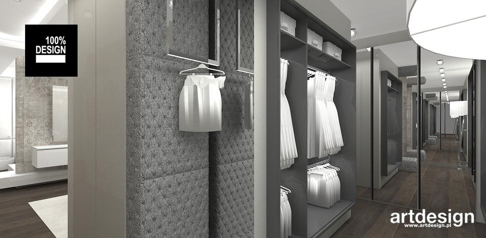 projekt garderoby wnętrza
