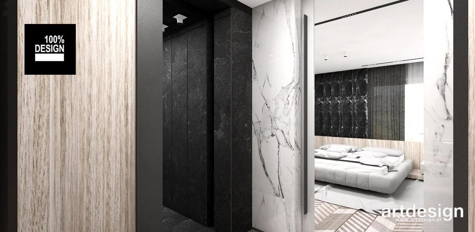 nowoczesna sypialnia z łazienka aranżacja wnętrz