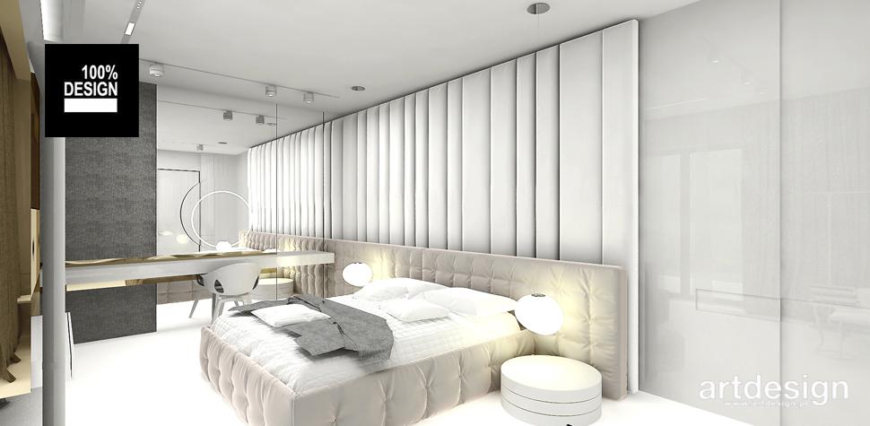 wnętrze sypialnia chłodne kolory