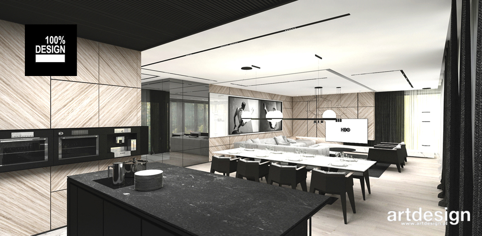 elegancka kuchnia projekty wnętrz