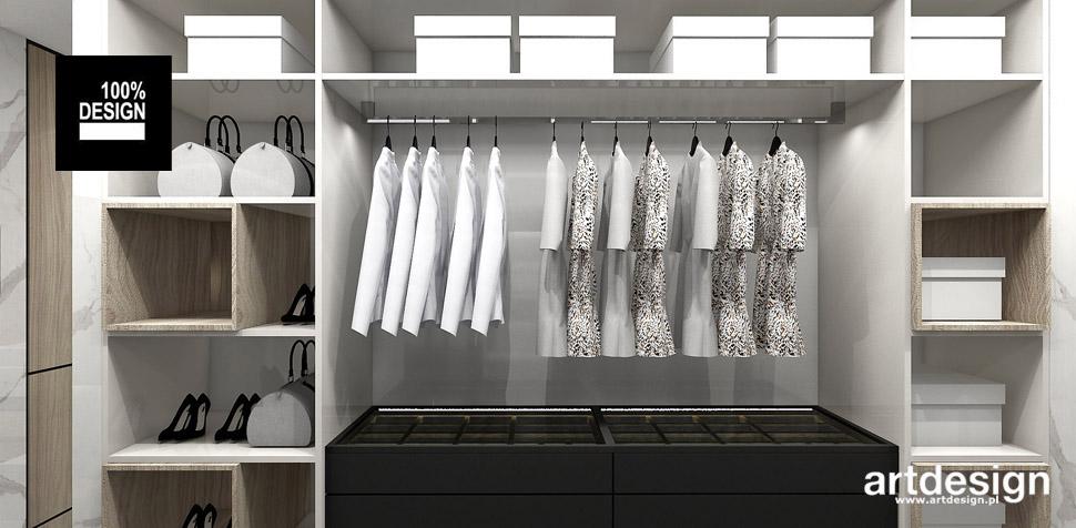 przestronna garderoba projekt