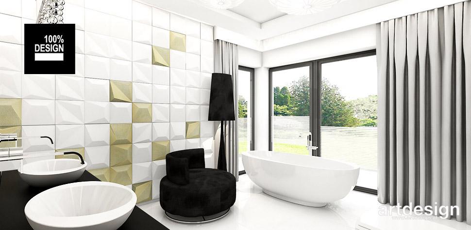 nowoczesny salon kąpielowy projekt