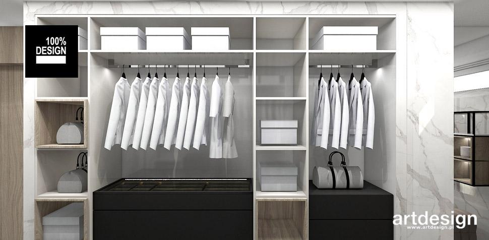 wygodna garderoba wnętrze
