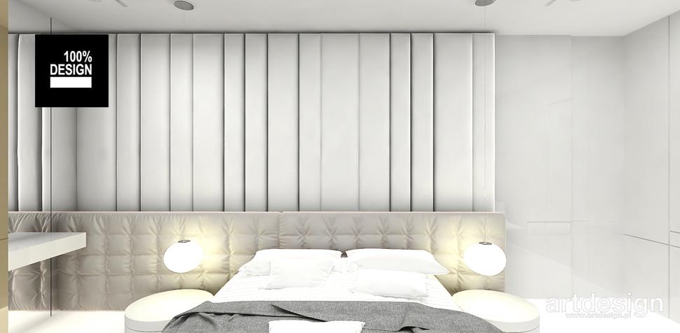 minimalistyczne wnętrze sypialnia