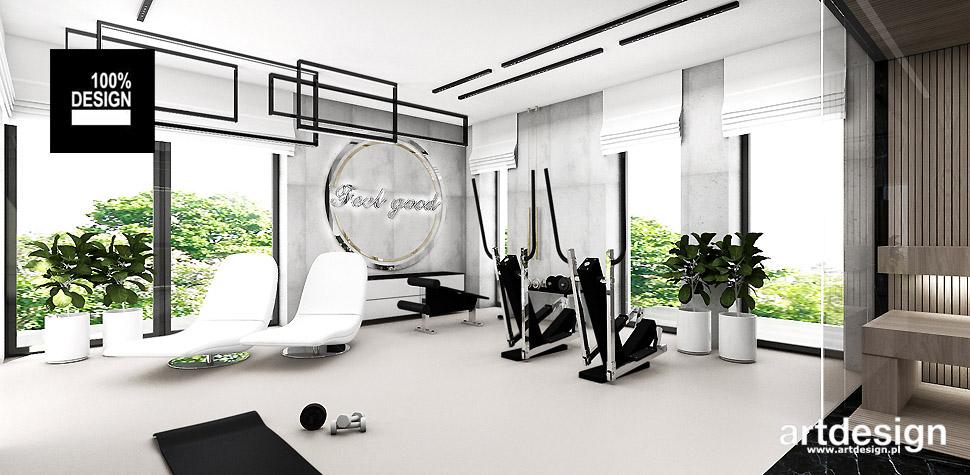 pokój fitness aranżacje wnętrz