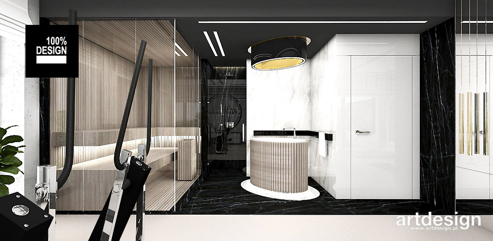 sauna w domu projekt wnętrz