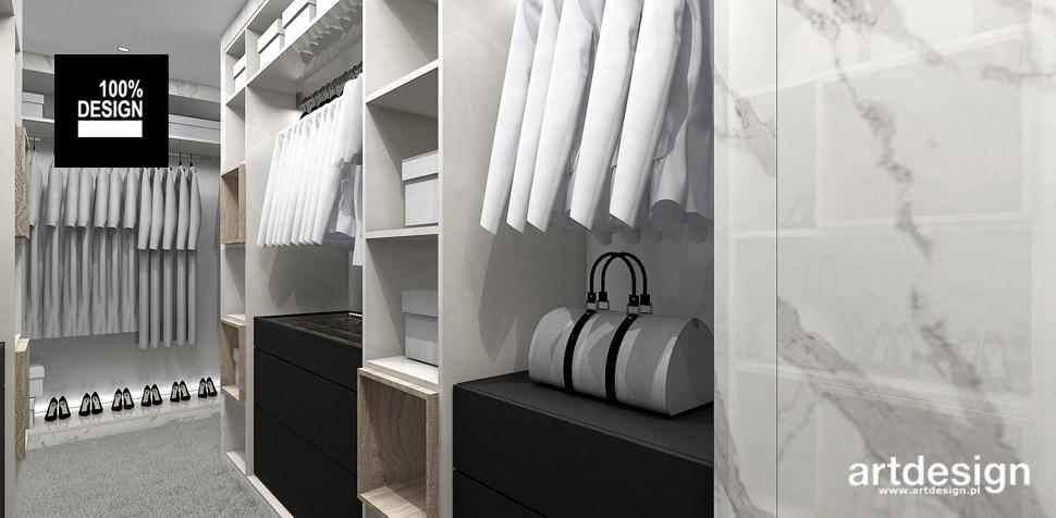 wnętrze domu garderoba