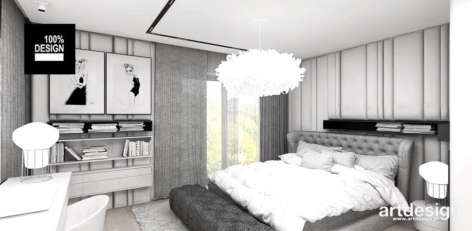 sypialnia biała aranżacja wnętrz
