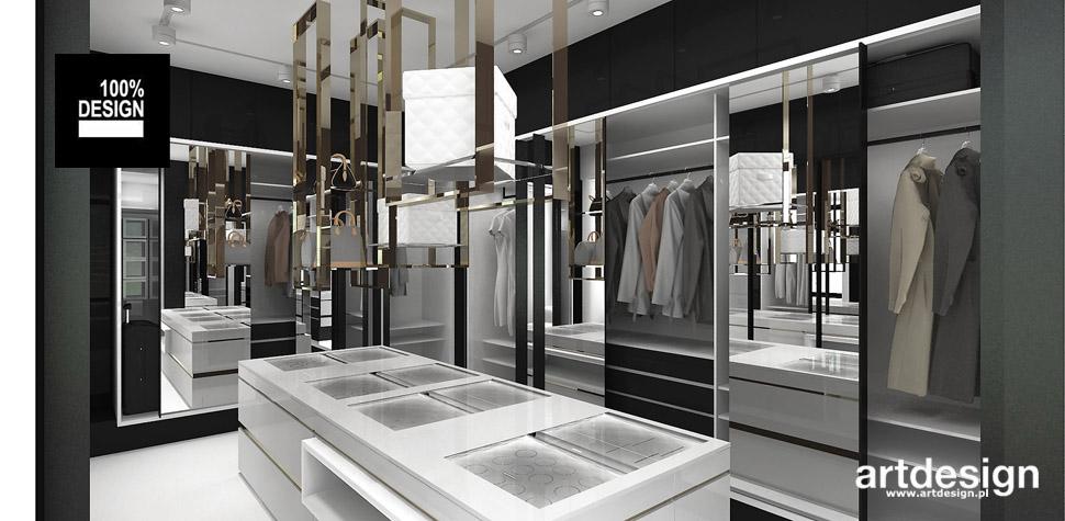 nowoczesna garderoba projekt