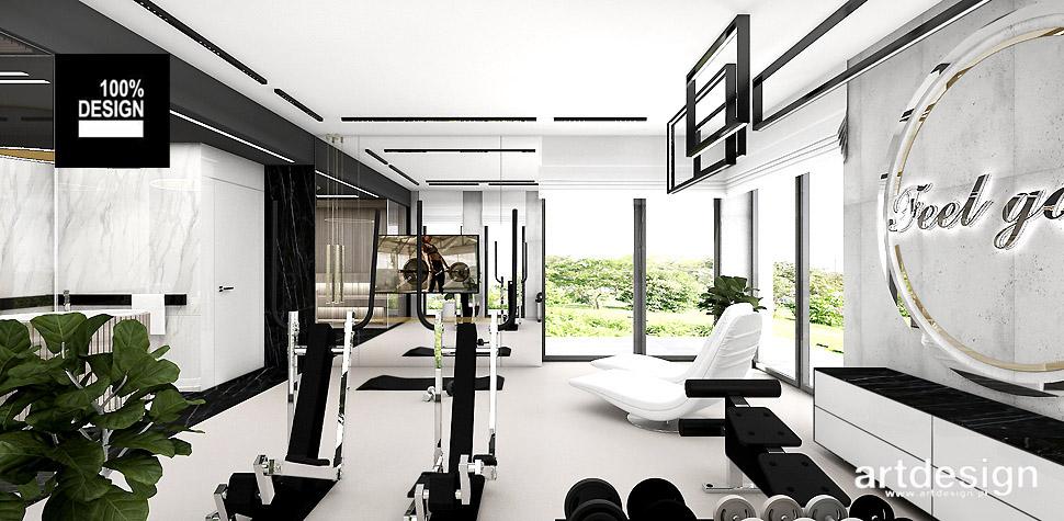 pokój fitness sauna aranżacje nowoczesne