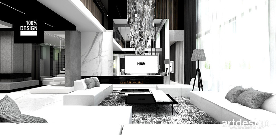 architektura wnętrz projekt salonu