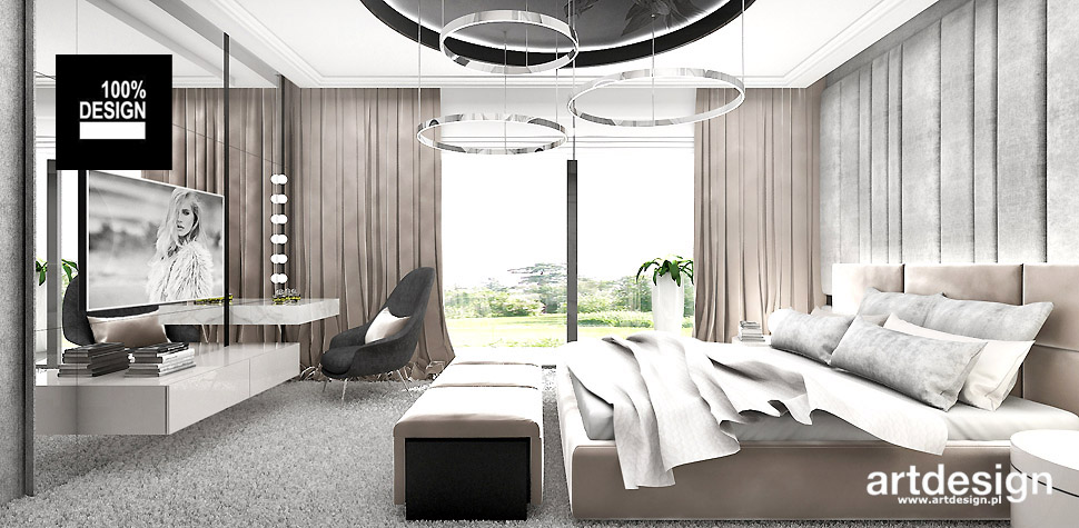 nowoczesne wnetrze sypialni projekt