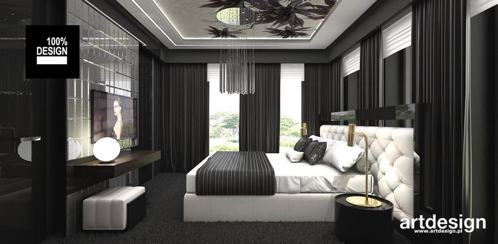 wnętrze elegancka sypialnia