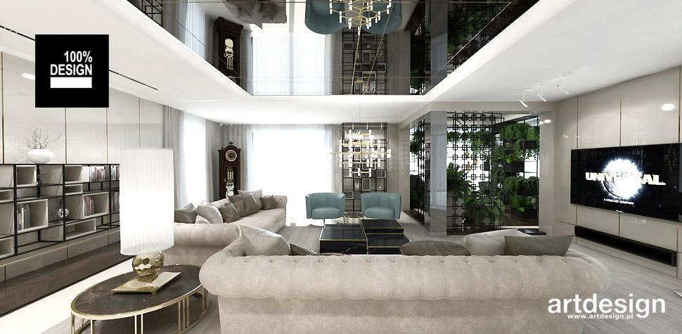 projekty wnętrz salon dom