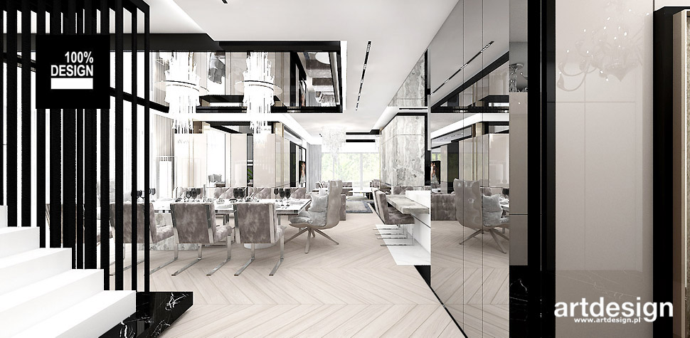 nowoczesny dom projekt wnętrz
