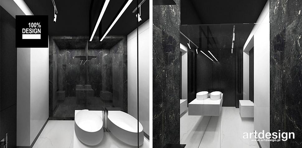 projekty łazienek wnętrza