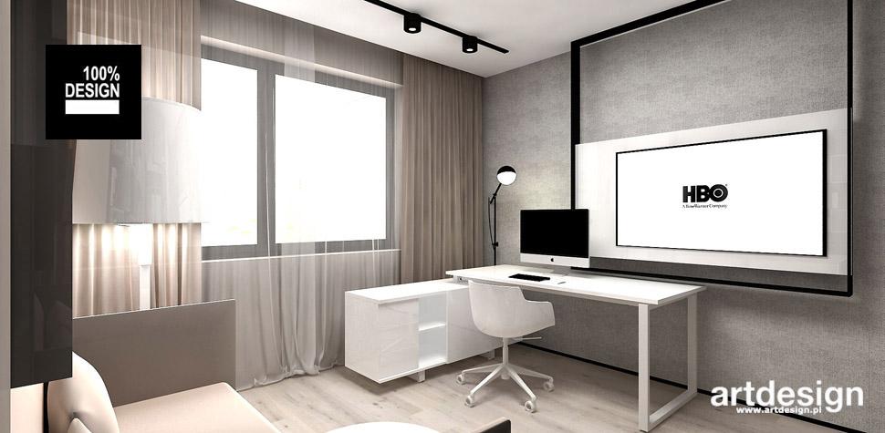 nowoczesne aranżacje domowe biuro