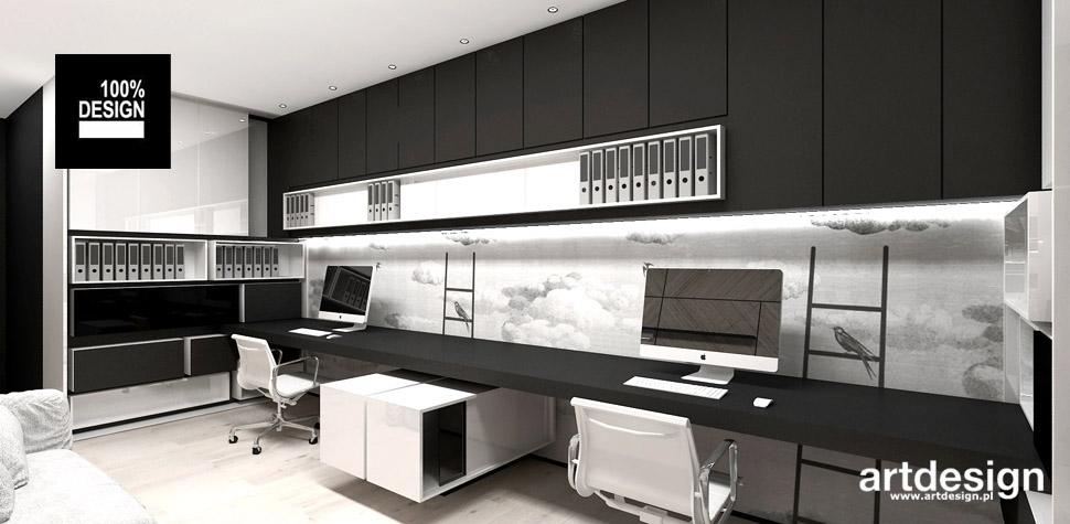 domowy gabinet projekt wnętrza