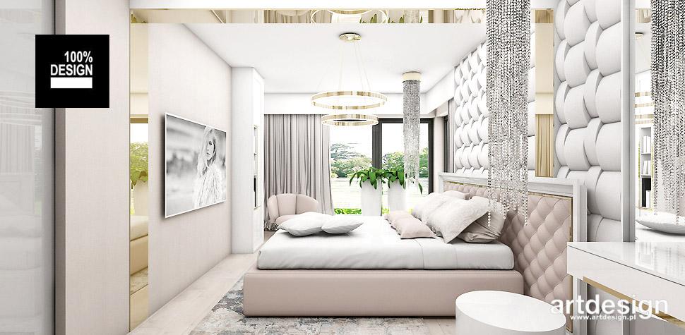 aranżacja sypialni w ciepłych kolorach