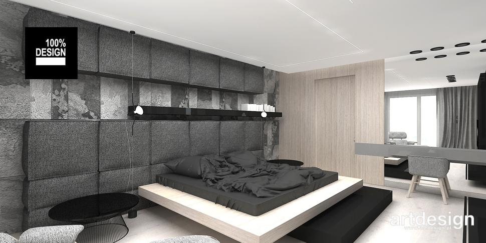 przestronna sypialnia aranżacja