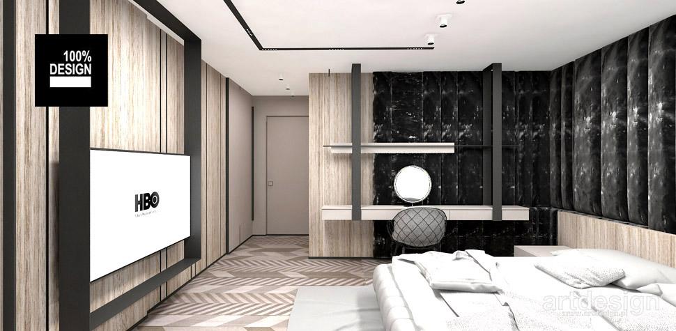 sypialnia designerskie wnętrza projekty