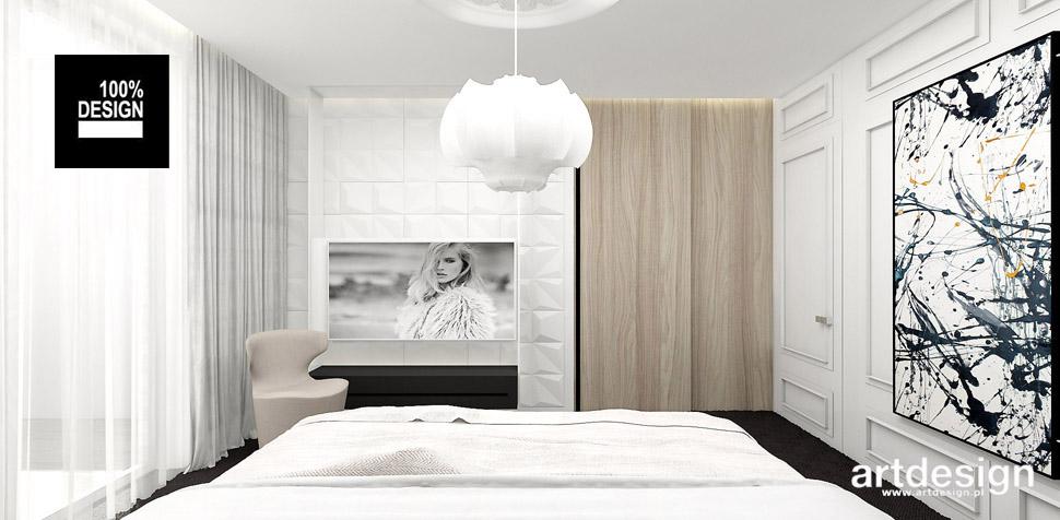 jasna sypialnia wnętrze