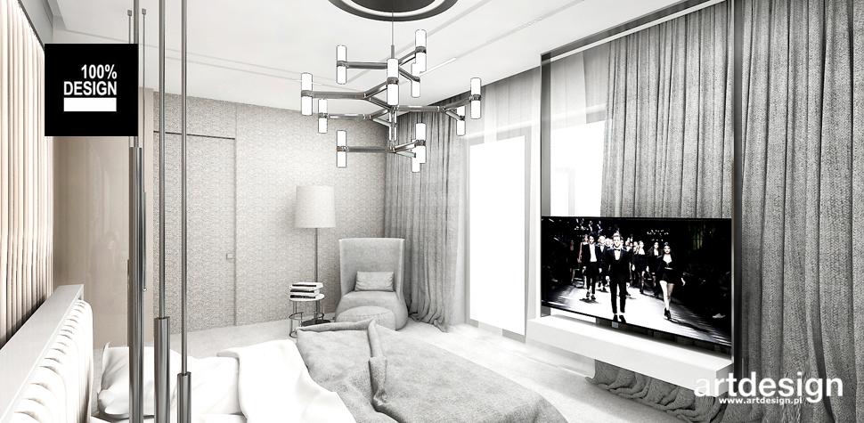 modna sypialnia wnętrze