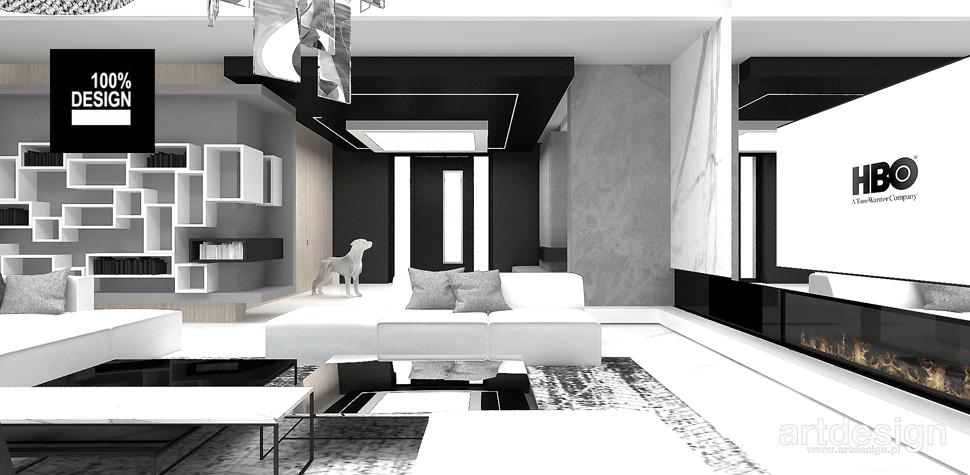 minimalistyczny salon projekt