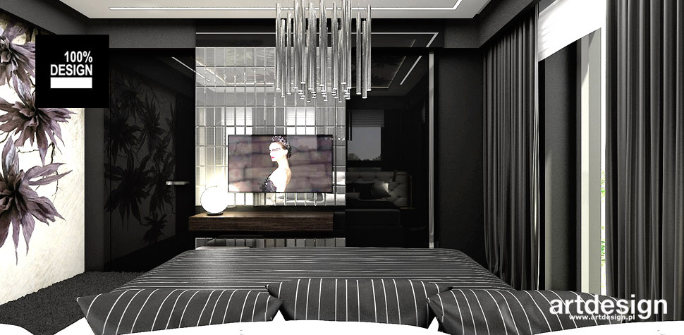 wnętrze nowoczesna sypialnia