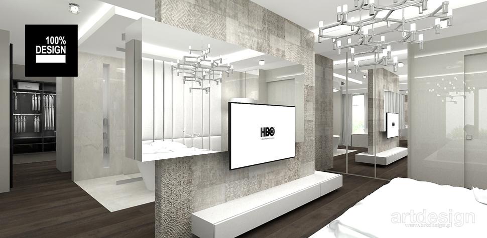 minimalistyczna sypialnia projekt