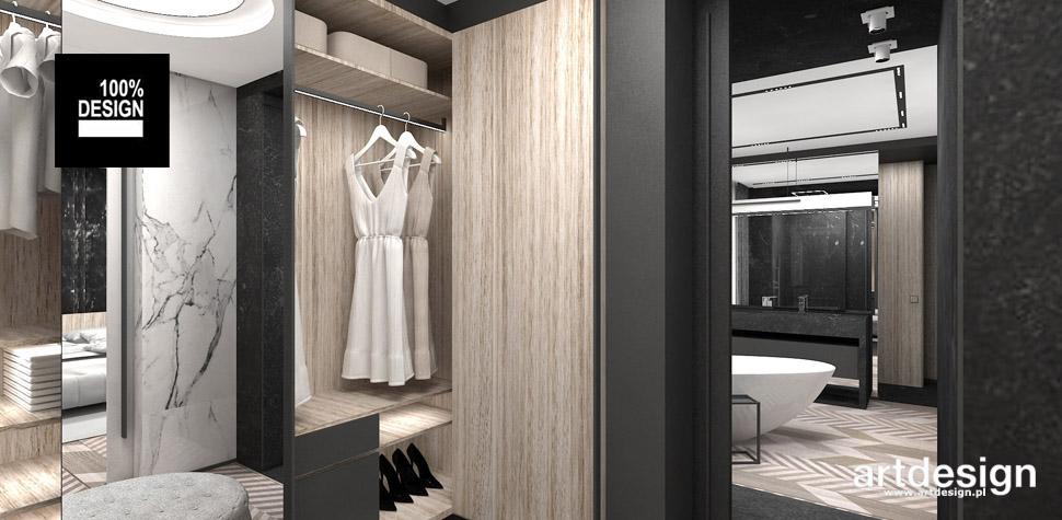 sypialnia z garderoba wnętrza projekt