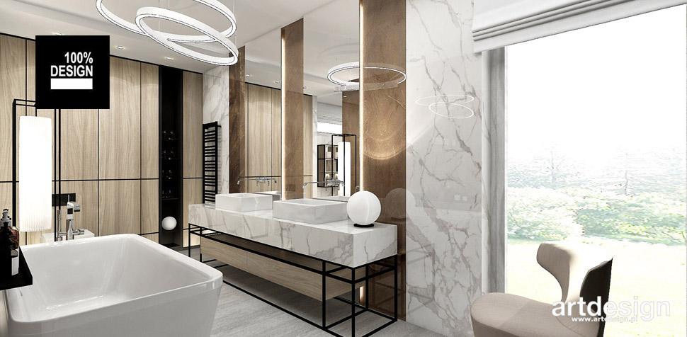 modna łazienka projektowanie wnętrz
