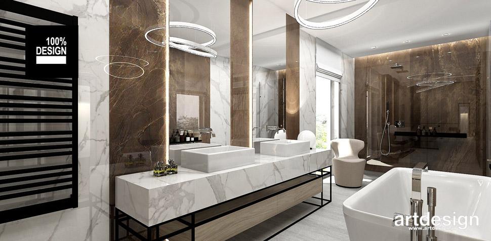 łazienka brązy inspiracje