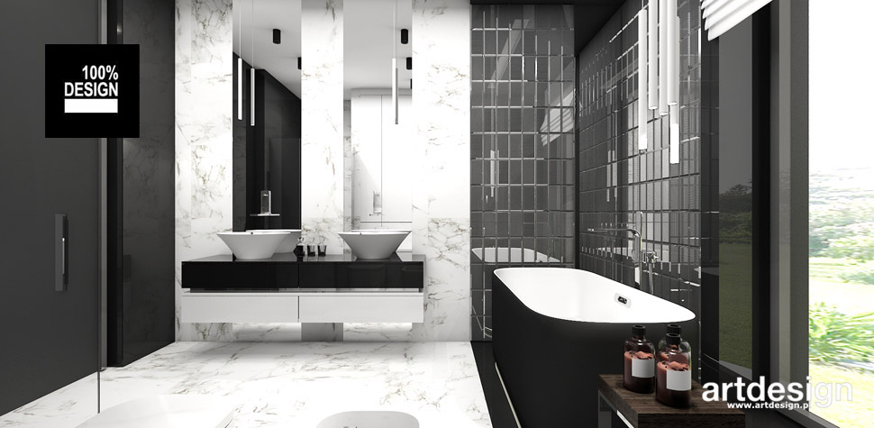 wnętrze minimalistyczna łazienka