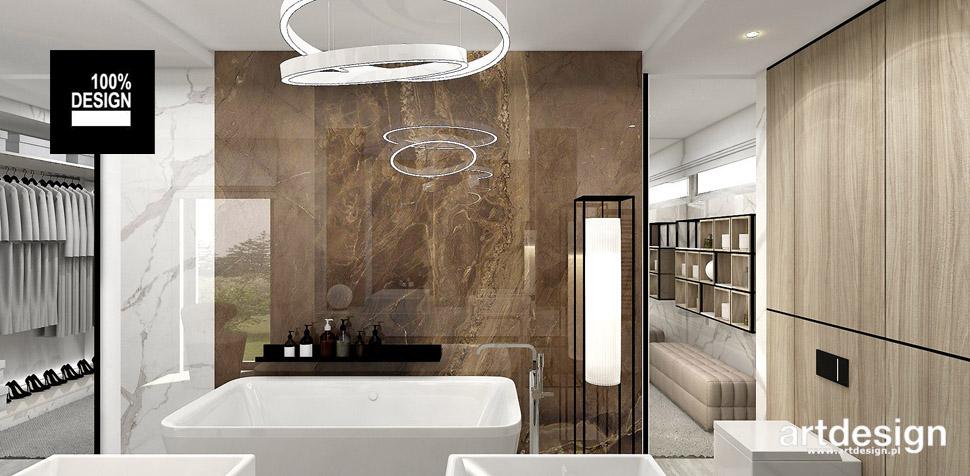 łazienka z garderobą projekt wnętrz