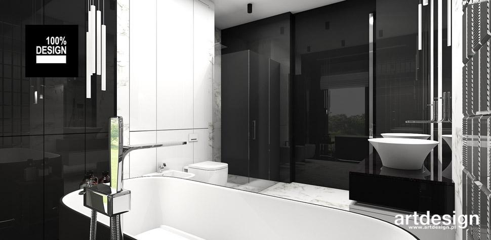 projekt łazienki black and white