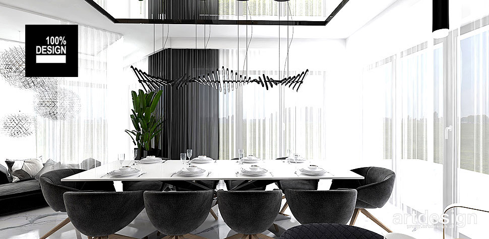 minimalistyczna jadalnia projekt