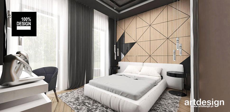 sypialnia drewno aranżacja