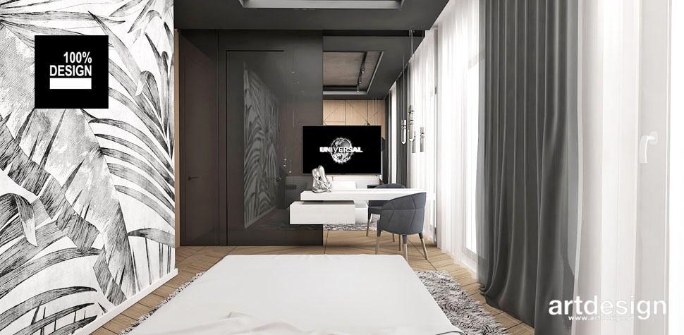 przestronny jasny projekt pokoju