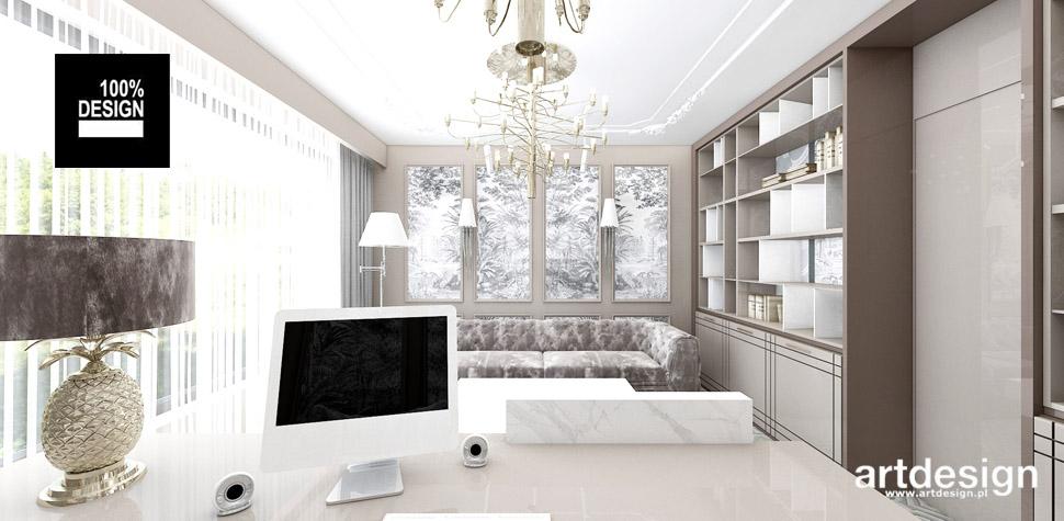 projektowanie wnętrz gabinet