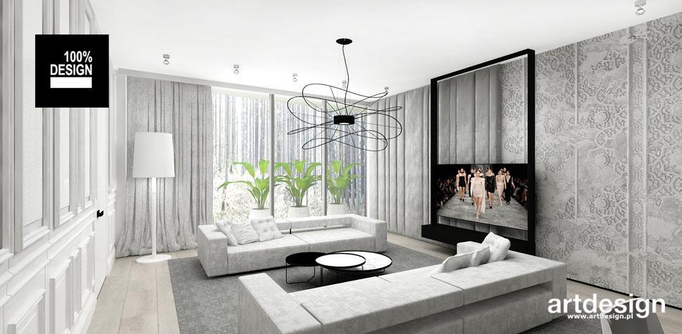 przestronny elegancki salon