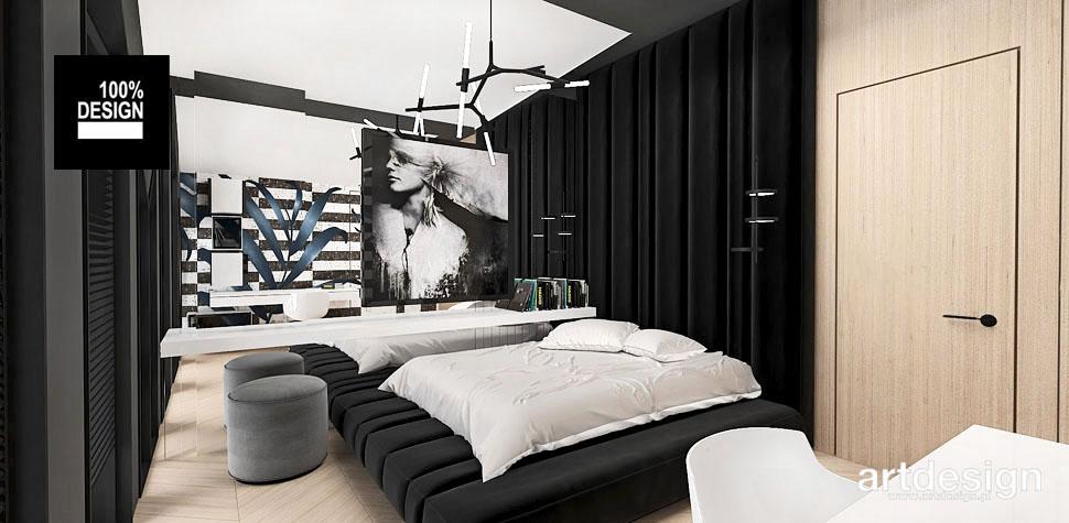 sypialnia drewno aranżacja wnętrz