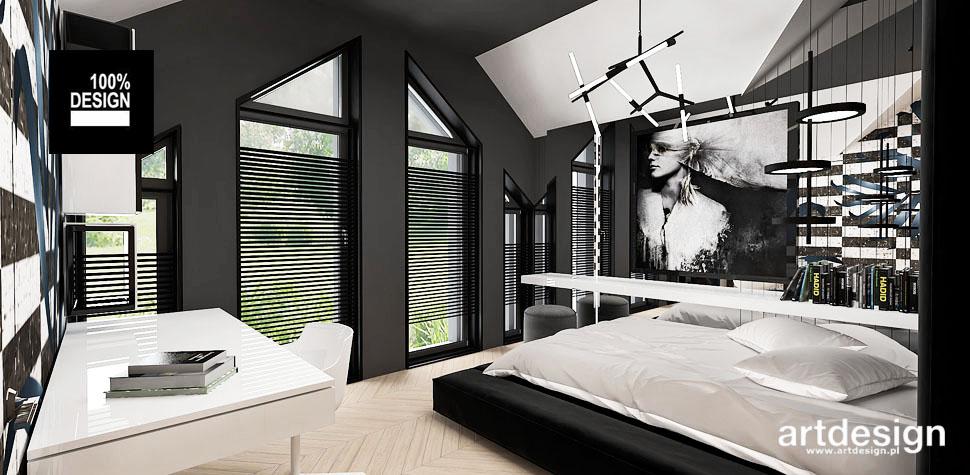 przestronne designerskie wnętrze domu