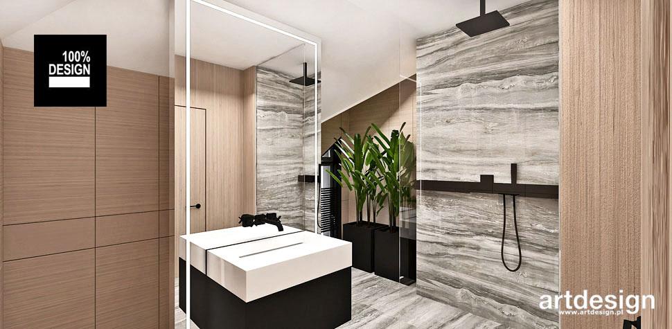 architektura wnętrz łazienka drewno