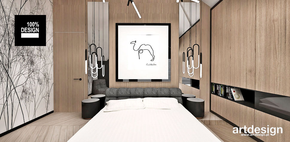 stonowana elegancka sypialnia