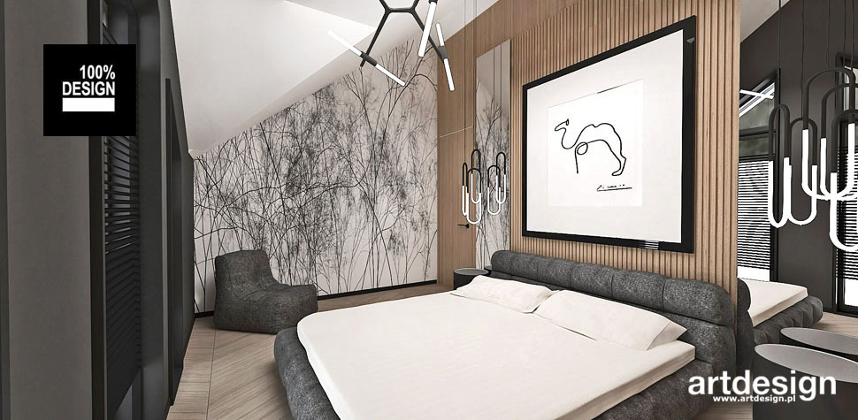 projektowanie designerskie wnętrze sypialni