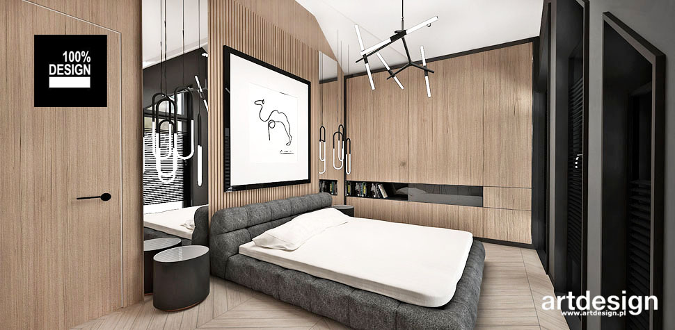 pomysł elegancka przestronna sypialnia
